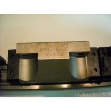 Lot 6 Bosch Rexroth 1651-71X-10 Star Linear Motion Guide Bearings & 2 Rails