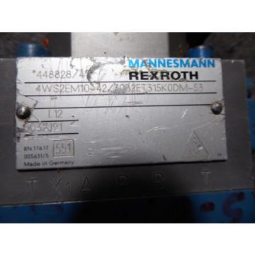 REXROTH SERVO VALVE # 4WRDE16V125-41/10L2Z9/M 4WS2EM10-42/30B2ET315K0DM-53